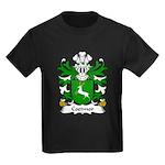Coetmor Family Crest Kids Dark T-Shirt