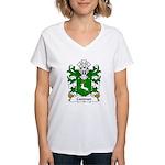 Coetmor Family Crest Women's V-Neck T-Shirt