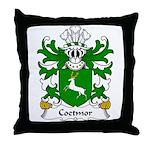 Coetmor Family Crest Throw Pillow
