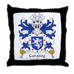 Caradog Family Crest Throw Pillow