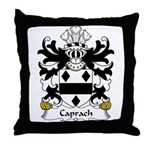 Caprach Family Crest Throw Pillow