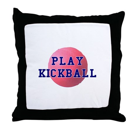 Play Kickball Throw Pillow