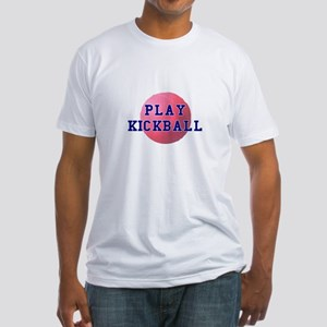 Play Kickball Fitted T-Shirt