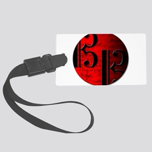 AltoClefRedCircle Large Luggage Tag