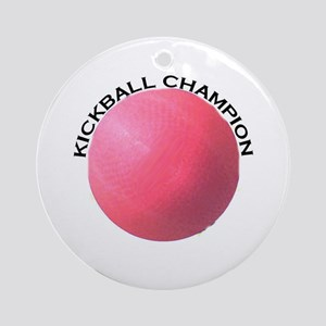Kickball Champion Ornament (Round)