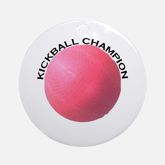Kickball Champion Ornament (Round)