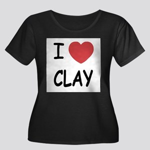 I heart clay Plus Size T-Shirt