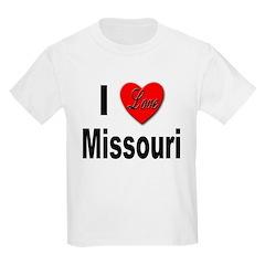 I Love Missouri Kids T-Shirt