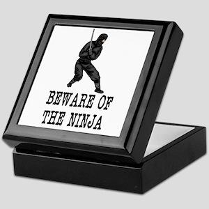 Beware of The ninja Keepsake Box