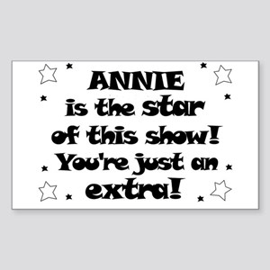 Annie is the Star Rectangle Sticker
