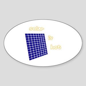 Solar is sexy Oval Sticker