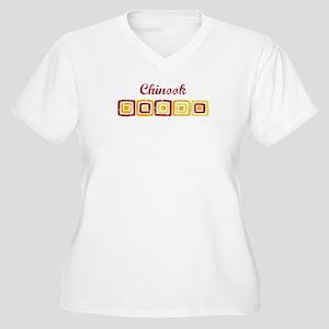 Chinook (vintage colors) Women's Plus Size V-Neck