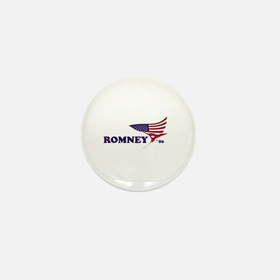 Mitt Romney 08 flag Mini Button