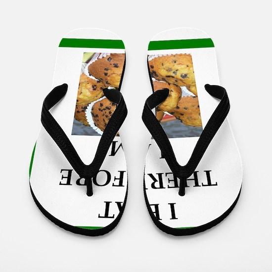 Funny breakfast joke Flip Flops