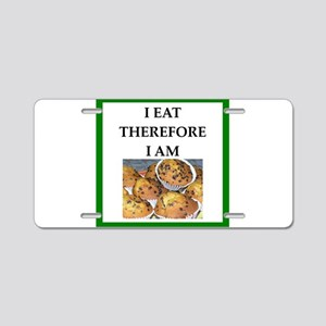 Funny breakfast joke Aluminum License Plate