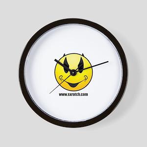 Sxratch.com logo yellow Wall Clock