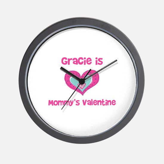 Gracie is Mommy's Valentine Wall Clock