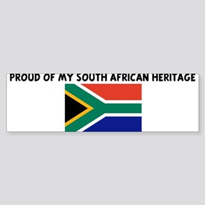 PROUD OF MY SOUTH AFRICAN HER Bumper Sticker