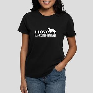 I Love Flat-Coated Retriev Women's Classic T-Shirt