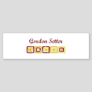 Gordon Setter (vintage colors Bumper Sticker