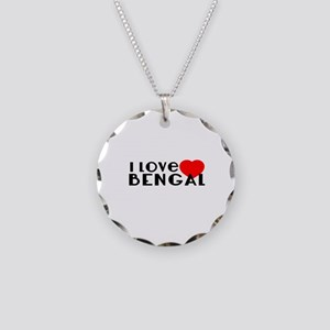 I Love Bengal Necklace Circle Charm