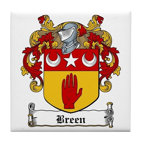 Breen Family Crests Tile Coaster