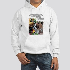 Saint Bernard Puppy Hooded Sweatshirt