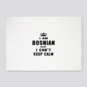 I am Bosnian and I can't keep calm 5'x7'Area Rug