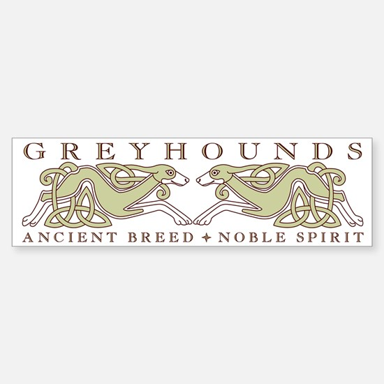 Knotwork Greyhounds Bumper Bumper Bumper Sticker