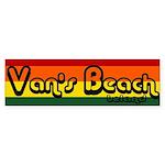 Van's Beach Surf Rasta Bumper Sticker