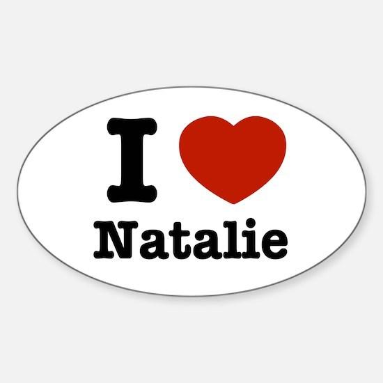 I love Natalie Oval Decal