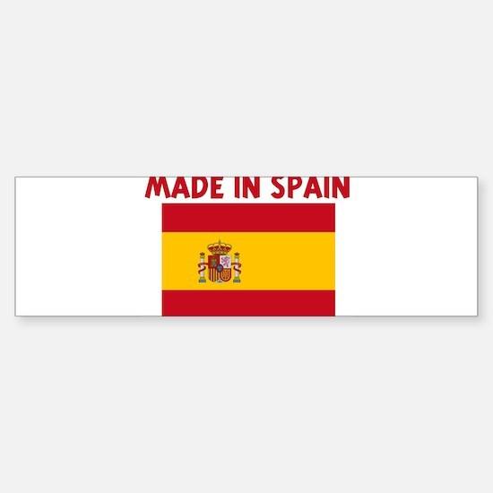 MADE IN SPAIN Bumper Bumper Bumper Sticker