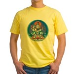 Buddha with Consort Yellow T-Shirt