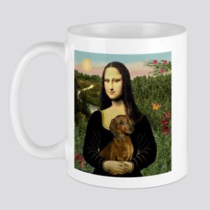 Mona Lisa & Dachshund Mug