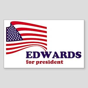 John Edwards for president Rectangle Sticker