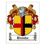 Brooke Family Crest Small Poster