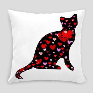 Cat Love Everyday Pillow