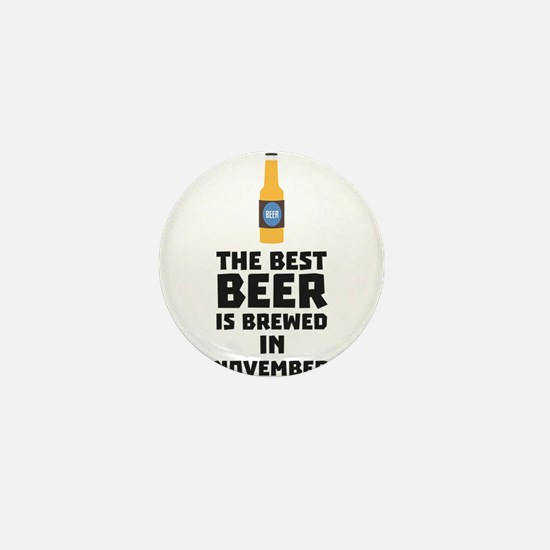 Best Beer is brewed in November Ck446 Mini Button