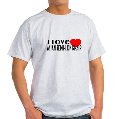 I Love Asian semi-longhair T-Shirt