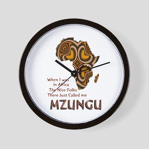 Mzungu - Wall Clock