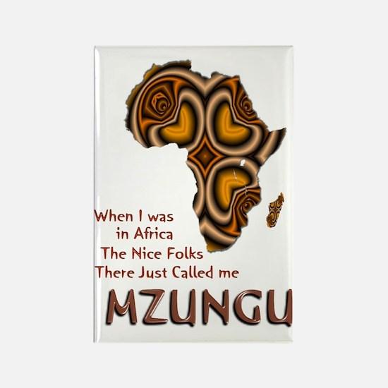Mzungu - Rectangle Magnet