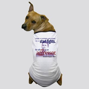 Ronald Reagan Never Aggressor Dog T-Shirt