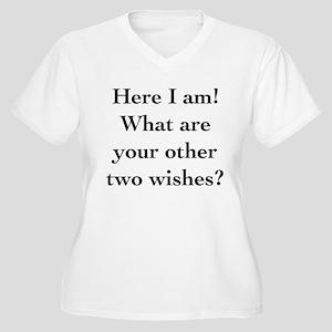 Here I Am Women's Plus Size V-Neck T-Shirt