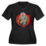 Kali Women's Plus Size V-Neck Dark T-Shirt