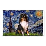 Starry Night / Sheltie (t) Sticker (Rectangle)