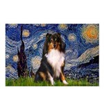 Starry Night / Sheltie (t) Postcards (Package of 8