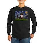 Starry Night / Sheltie (t) Long Sleeve Dark T-Shir