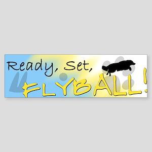 Ready Set Flyball Bumper Sticker