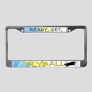 Ready Set Flyball License Plate Frame