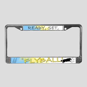 Ready Set Flyball License Plate Frame